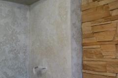 Интерьер с использованием сразу двух декоративных элементов,штукатурки Histolith  и декоративного камня