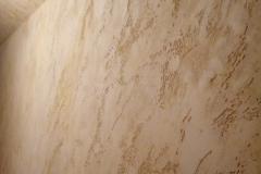 Штукатурка Минера.Мансардный этаж обладает атмосферой магнетизма,травертин в нем благороден и практичен
