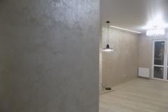 штукатурка ДиПерла объединяет общие пространства квартиры