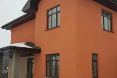 Кирпично-терракотовый фасад