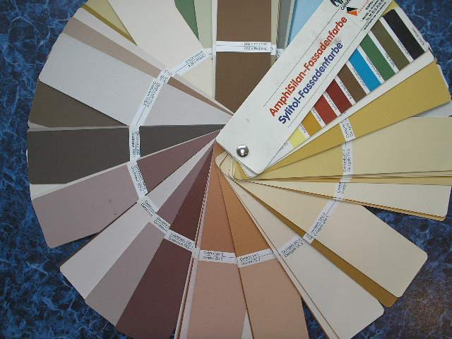 Цветовой веер Amphisilan-Fassadenfarbe и Sylitol-Fassadenfarbe
