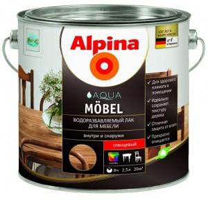Alpina Водоразбавляемый лак для мебели_Mogilev